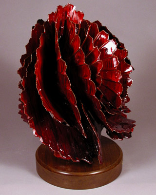 'Cold Embers' - abstract ceramic sculpture