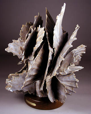 'Evening Ice' - abstract ceramic sculpture