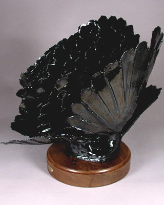 'Obsidian Point' - abstract ceramic sculpture