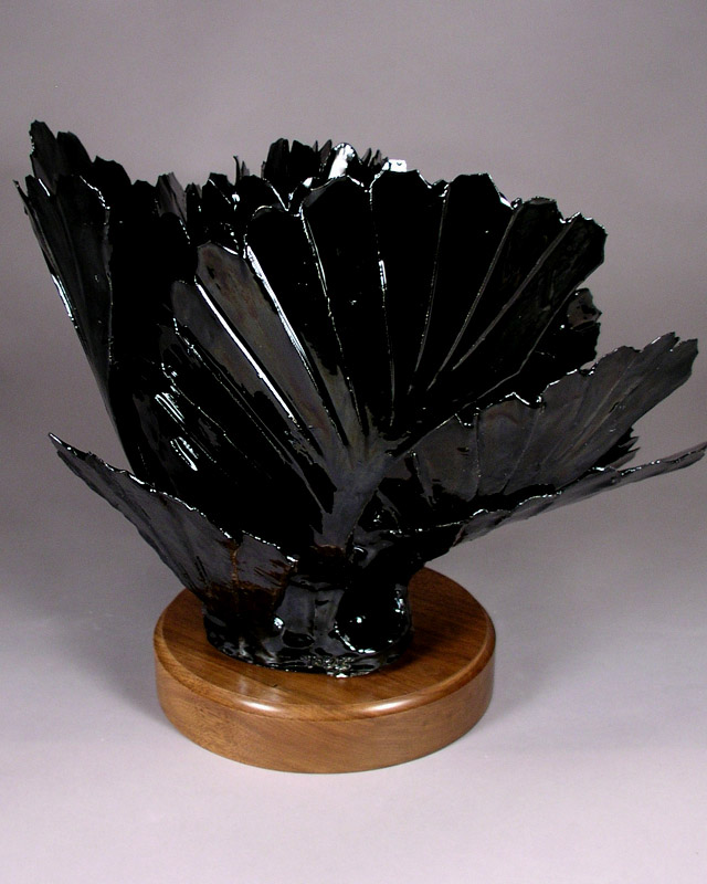 OBSIDIAN POINT ABSTRACT CERAMIC SCULPTURE By Larry Boyer Artist