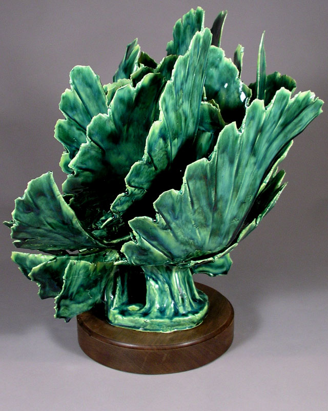 SPRING AWAKENING ABSTRACT CERAMIC SCULPTURE By Larry Boyer Artist