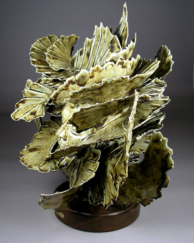 'Yellowstone' - abstract ceramic sculpture